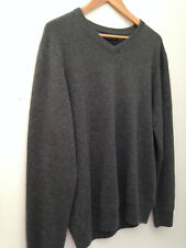 NWT Tahari Pure Luxe 100% Cashmere Men's Handsome Green V Neck Sweater XL $245