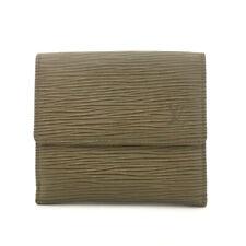 Louis Vuitton Epi Porte Feiulle Elise Credit Gray Leather Trifold Wallet /70551