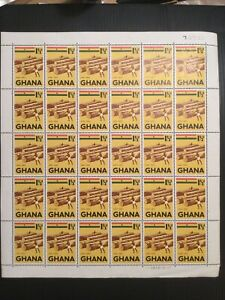 Ghana 1959 Sg  215 Issued Complete Sheet Of Stamps. Logs Plate 1D