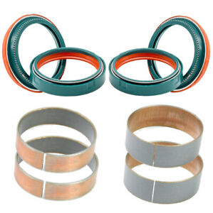 SKF dual compound fork seal & inner & outer fork bushings fits WP 48mm fork