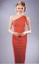 Stop Staring Bedrock 1 Strap Red White Dot Rosebud Cheesecake Wiggle Dress USA M