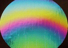 Dichroic Glass 90 COE Homeycomb on Thin Black CBS 5x10 cm