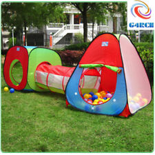 G4RCE Kids Toddler Pop up Play Tent 3 Piece Tunnel Outdoor Indoor Adventure UK