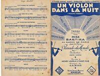 Ancienne Partition Un violon dans la Nuit Violino Tzigano 1935 Tino Rossi