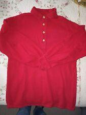Civil War Reenactment Red Cotton Flannel Artillery Shirt S Chest 41