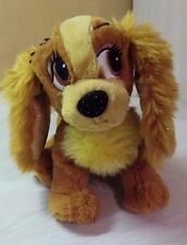 "Authentic Disney Lady and the Tramp Lady Plush 8"" stuffed toy animal NWT"