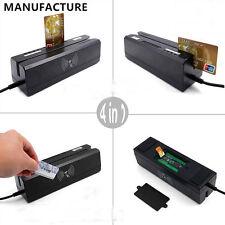 New 4In-1 MCR400 RFID&13.56M HZ NFC& Psam Card MAG &IC Chip R/Writer 3-Track USB