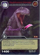 Carte DINOSAUR KING Attaque Alpha GIGANTOSAURE SAUVAGE DKAA 005/100 HOLO