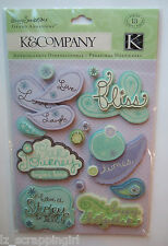 POPPY SEED WORD Grand Adhesions Stickers K & CO Company FAMILY scrapbook phrases
