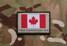 Canadian These Colours Don't Run Woven Patch JTF2 Canada Strong CADPAT