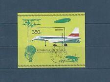 Tchad  bloc   avion  Concorde  de 1973  num: 14C  oblitéré
