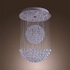 Modern Large Crystal Chandelier Lighting RainDrop Pendant Lamp LED Ceiling Light
