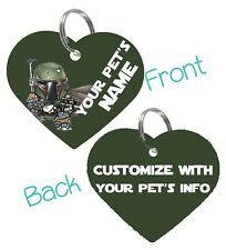 Boba Fett | Star Wars 2-Sided Pet Id Dog & Cat Tag Personalized For Your Pet