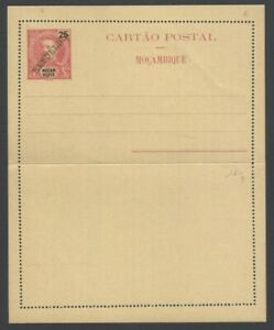 Mozambique 1912 letter card 25r red REPUBLICA unused HG #A6