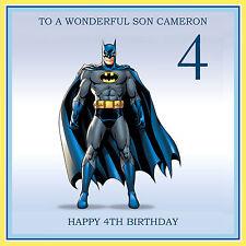 BATMAN - PERSONALISED Birthday Card Son Brother Nephew Grandson