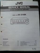 Original Service Manual JVC Stereo Integrated Amplifier AX-311BK