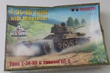 Maquette T-34-85 Tank with Mineroller in 1/35 3561