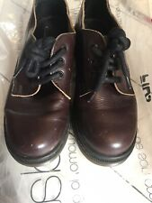 Topshop Dr Marten Style Leather Dark Red Burgundy Shoes Uk 3 Euro 36