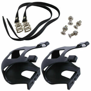 Bicycle Toe Clips With Straps Universal Fitment Road Mountain Bike Cycling Sport