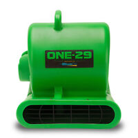 BlueDri ONE-29 Air Mover Carpet Dryer Floor Blower Fan High CFM Low Amps, Green