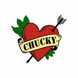 Chucky Heart arrow TEMPORARY TATTOO Waterproof forever love