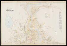 1904 BERKSHIRE COUNTY MA GREAT BARRINGTON SEARLES HS STATE RD-BRIDGE ATLAS MAP