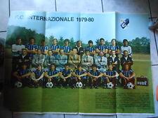 INTER F.C.1979-80-POSTER GIGANTE-I TUOI CAMPIONI-NO ADESIVI-cm.70x97