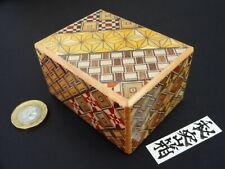 [Genuine] Japanese Puzzle Box - 2.5 Sun 12 Steps - Yosegi Himitsu Bako - Small