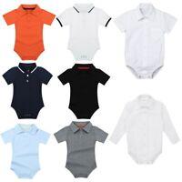 Newborn Infant Baby Boys Romper Outfits Bodysuit Jumpsuit Cotton Lapel Clothes