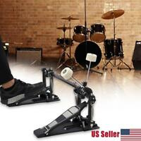 Double Bass Drum Foot Kick Pedal adjustable bearing jointed hinge system NEW
