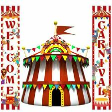Carnival Decoration Porch Sign Carnival Circus Birthday Party Welcome Banner Dec