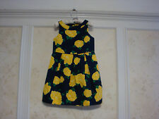 NWT JANIE AND JACK Hamptons Hideaway Girls Floral Pique Dress 10  Goldenrod