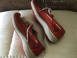 WOLKY RED LEATHER SHOES SIZE 39, UK 6