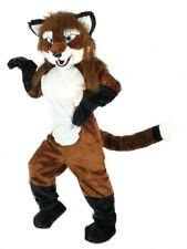 Long Fur Fox Dog Mascot Costume Fursuit Animal Fancy Dress Advertising Adults