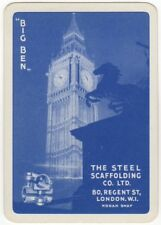 Playing Cards 1 Swap Card - Vintage Wide Advertising SCAFFOLDING Horse BIG BEN 1