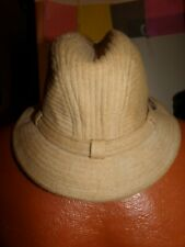 Vintage Country Gentleman Crushable Camel Hair Hat Cap The Traveler Size 7 & 1/8