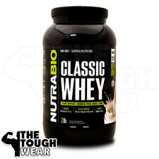 NUTRABIO CLASSIC WHEY PROTEIN 2Lbs - CREAMY VANILLA -100% WHEY CONCENTRATE