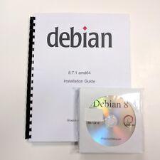 DEBIAN LINUX 8.9 32 Bit  (Full 13 DVDs & Printed Manual) DESKTOP, SERVER, OS