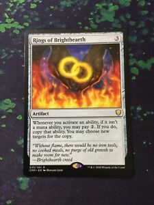 MTG, Rings of Brighthearth. Commander Legends Rare NM