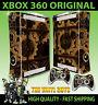 XBOX 360 STEAMPUNK GEARS VICTORIAN COGS STEAM PUNK STICKER SKIN & 2 PAD SKINS