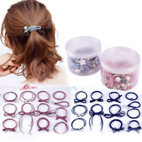 12Pcs Women Elastic Rope Ring Hairband Ponytail Holder Fashion Hair Accessory