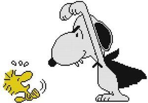 CROSS STITCH+ CRAFT PATTERN Peanuts Snoopy Dog Woodstock Bird Halloween Vampire