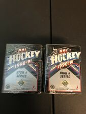 2 BRAND NEW FACTORY SEALED 1990-91 UPPER DECK HOCKEY HIGH # SETS