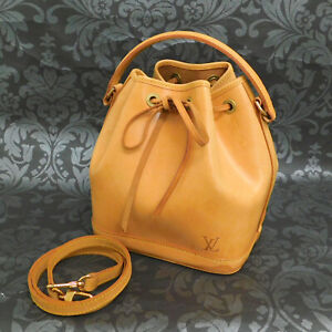 LOUIS VUITTON Nomade Mini Noe Brown Leather 2Way Handbag Shoulder Bag #2 Rise-on