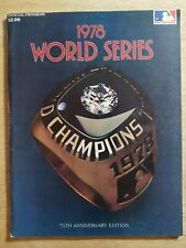 1978 World Series Official Program N.Y. Yankees L.A. Dodgers