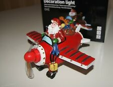ChristmasDecoration Light Santa Airplane With Moving Light Effect Ideal GIFT