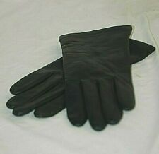 Fownes Black Genuine Leather 100% Pure Cashmere Lined Winter Gloves Size 6-1/2