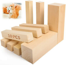Lime Wood Hand Carving Blanks Blocks. 10 Piece. Basswood Linden. Two sizes.