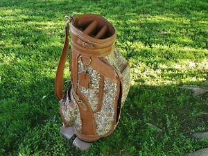 Daiwa Ladies Cart Golf Bag Head Cover Shoulder Strap Brown Vintage Pre-Owned