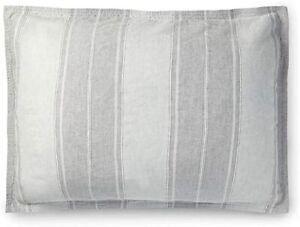 Ralph Lauren Oakview Pillow Sham, Pewter Graphite, Standard